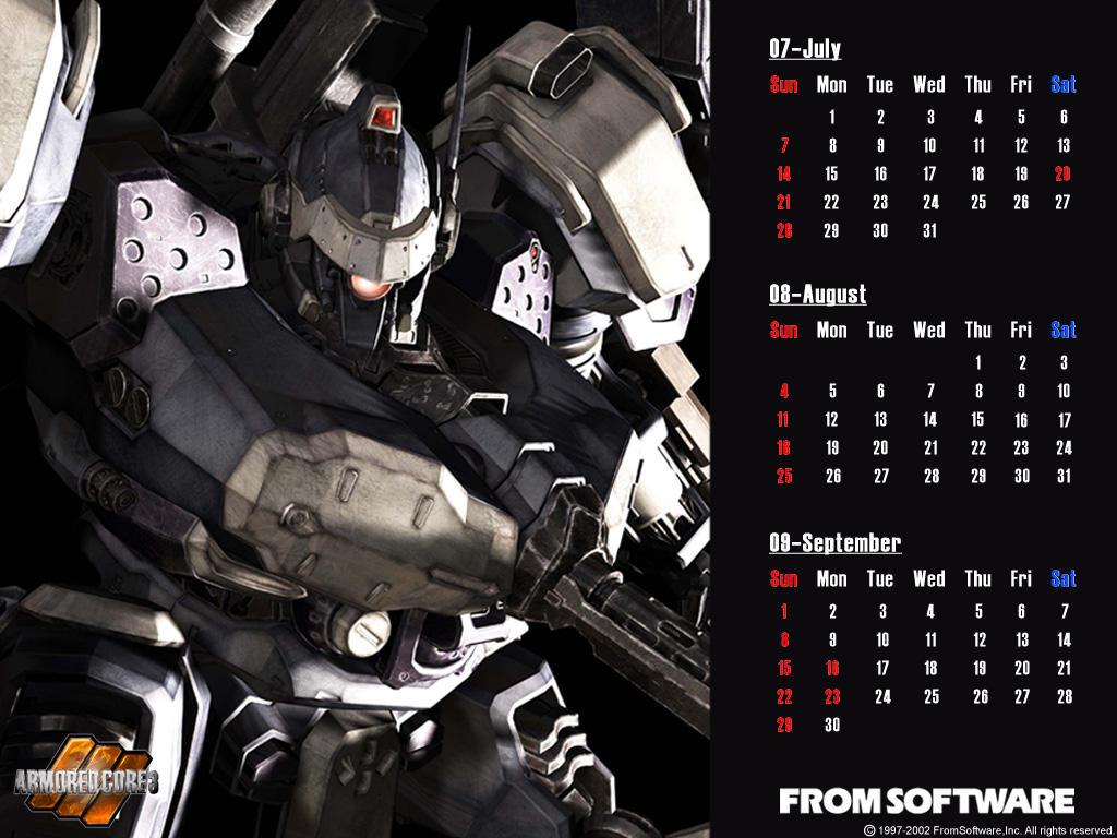 アーマードコア カレンダー
